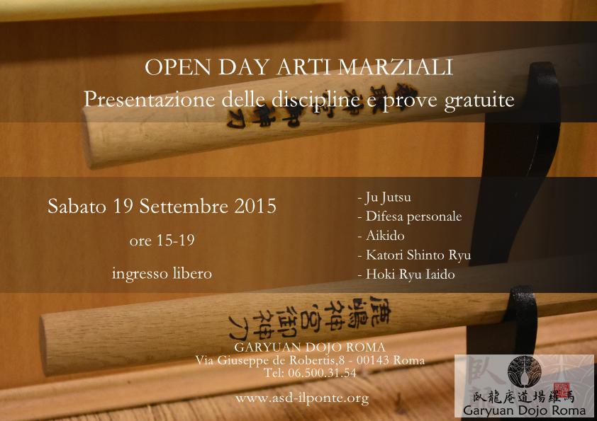 Open Day 19 Sett 2015